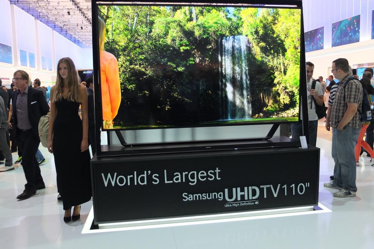 Samsung's 110-in UHD display