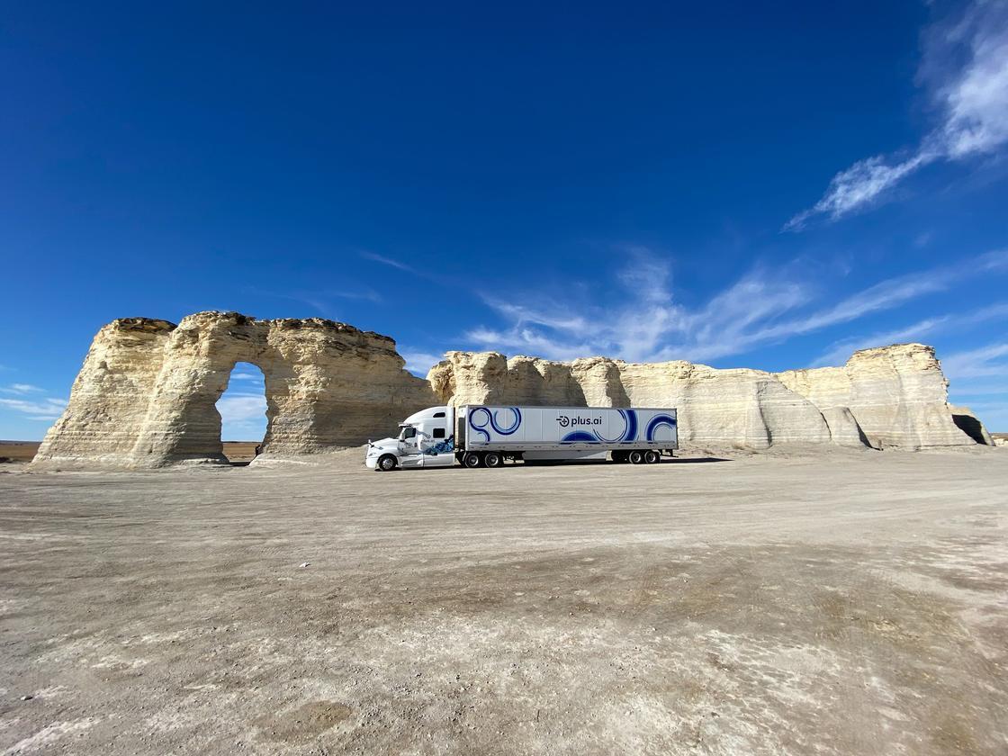 The autonomous butter shipment at Monument Rocks, Kansas