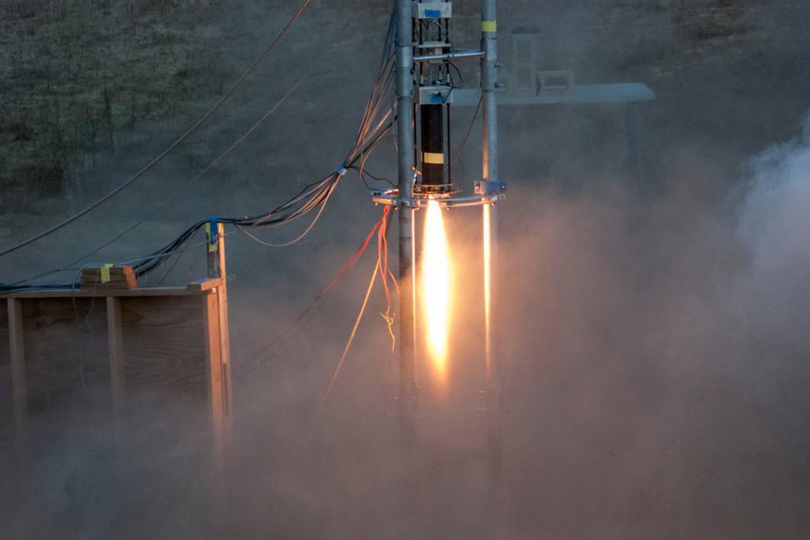 Starscraper project Mark IIb engine test firing