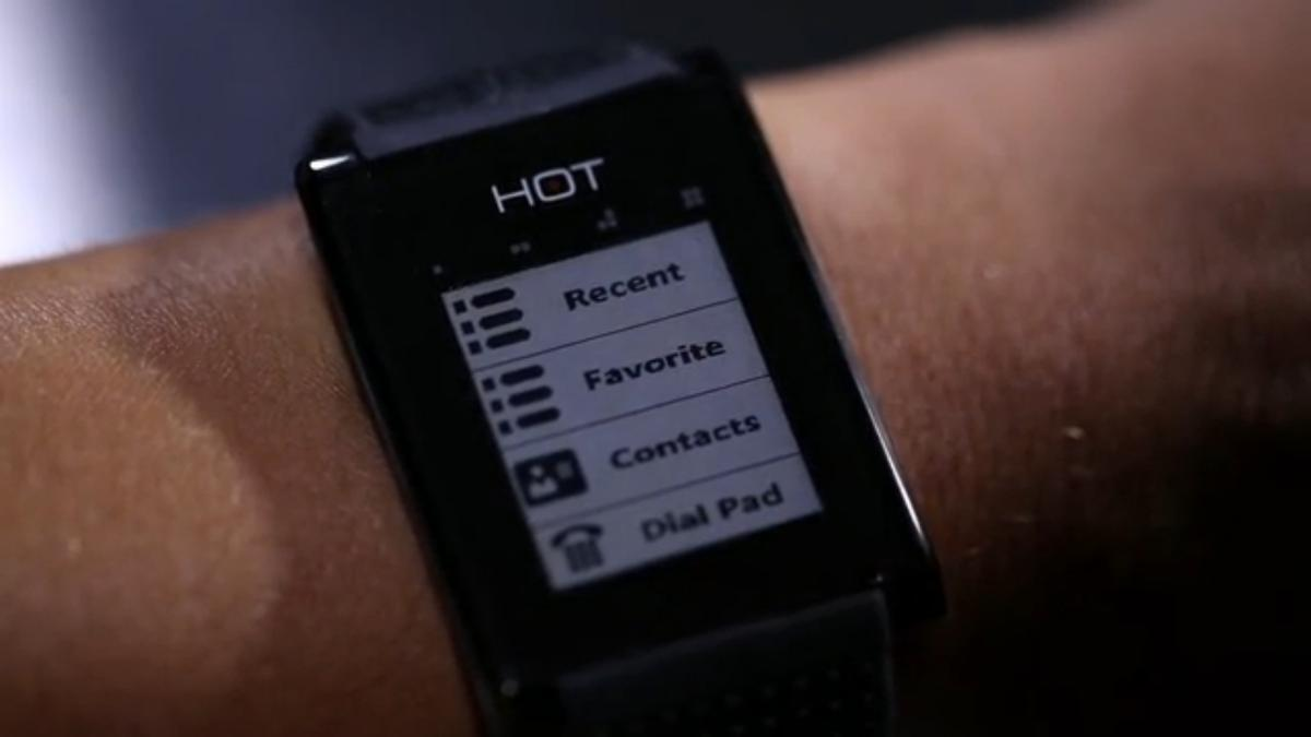 HOT Watch is a new smartwatch with a directional speaker and microphone embedded in the wrist, allowing the wearer to answer phone calls by cupping their hand to their ear