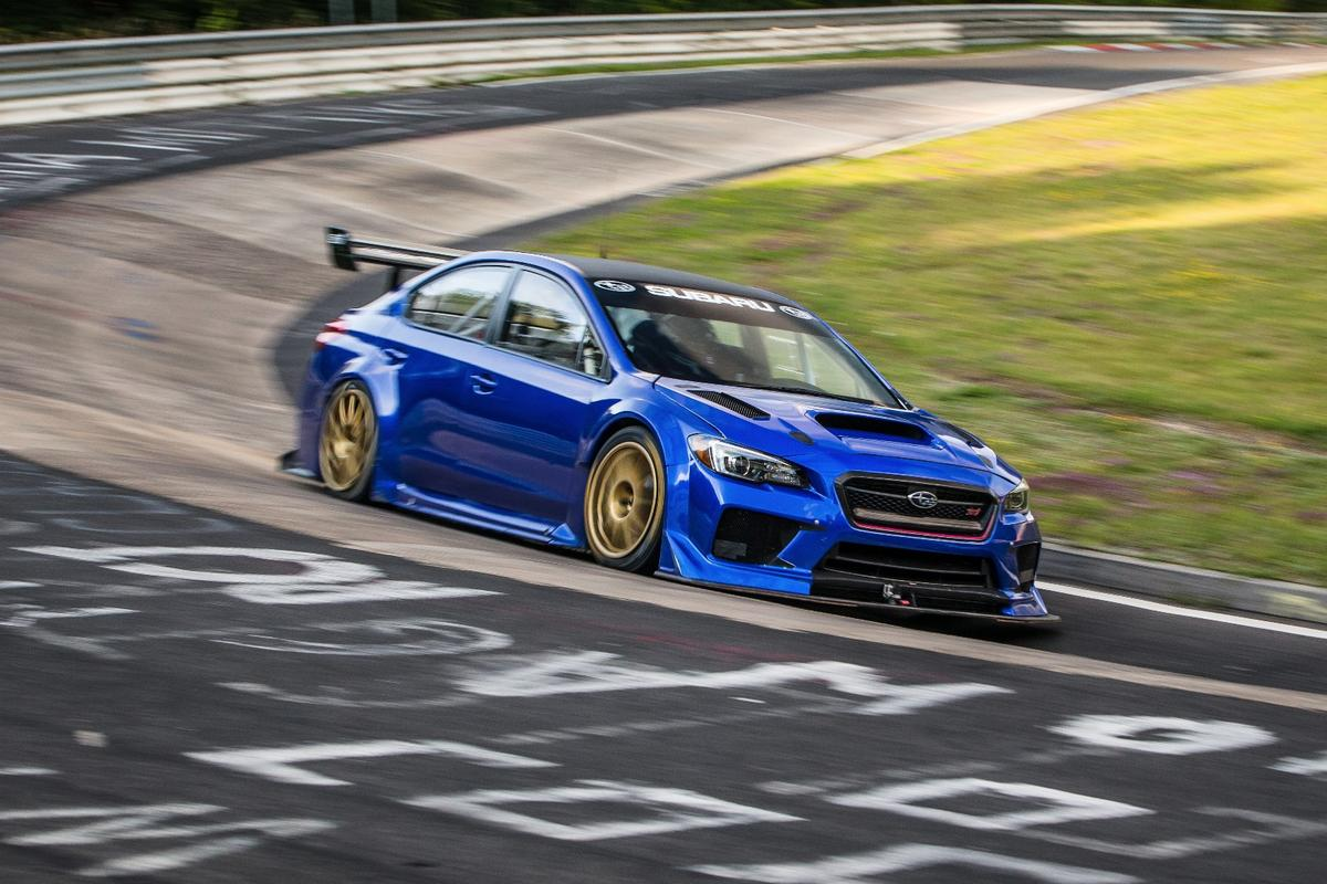 Subaru has set a new lap record for four-door sedans at the Nurburgring
