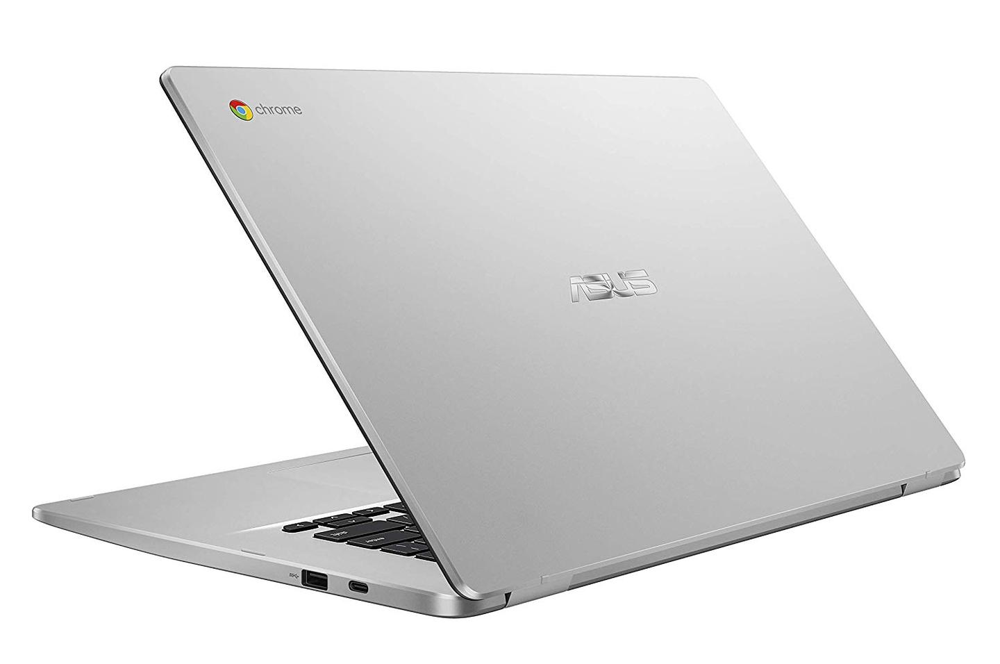TheAsus Chromebook C523 has a 38 Wh Lithiumpolymer battery that's reported good for up to 10 hours of use between charges