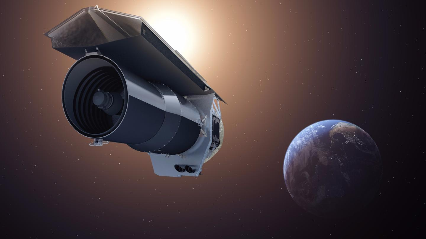 Artist's concept of NASA's Spitzer Space Telescope