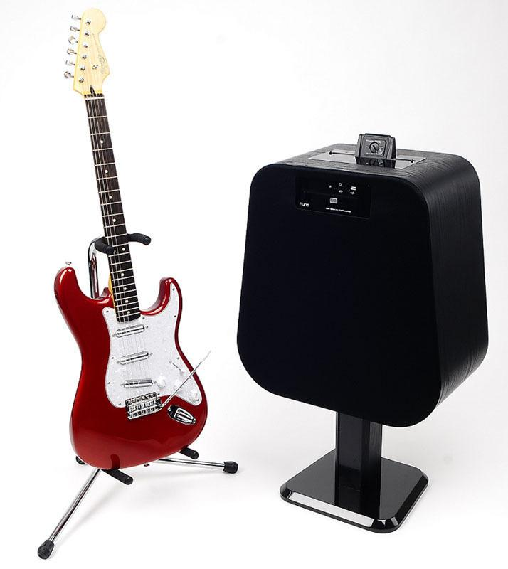 Aside from connecting to other devices using the typical Bluetooth, USB, and 3.5mm connections, the NH-6500 speaker also converts into a functional guitar amp with the addition of a guitar control