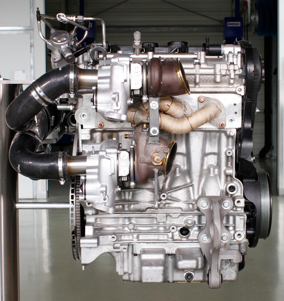 The Swede's new 2.0 liter petrol powered unit features triple boost technology capable of generating 450 hp