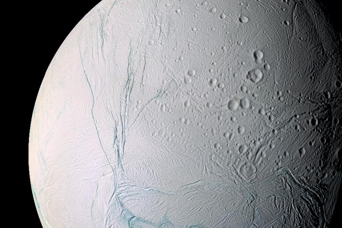 Cassini image of Enceladus captured in March, 2006