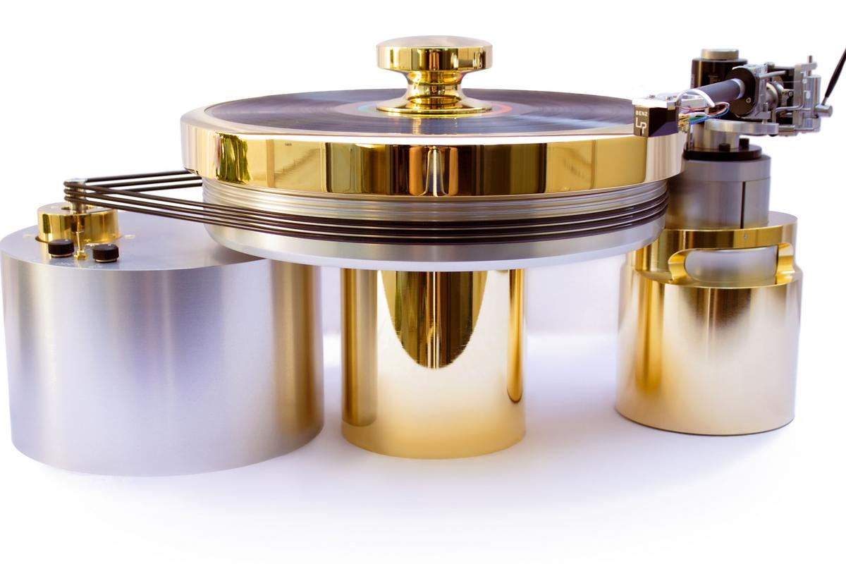 The One Degree of Freedom turntable features new technology to help keep system-related acoustic blurring or distortion from spoiling the enjoyment of the audio - at a cost of $150,000 (Photo: Onedof)