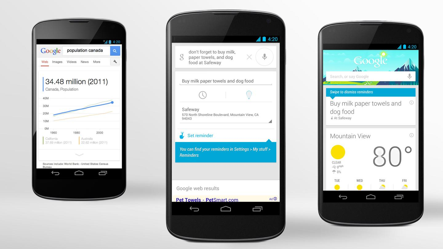 Google Now for Android now supports reminders
