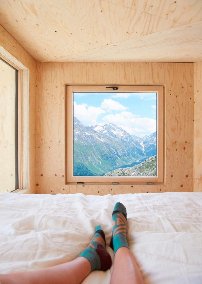 The On Mountain Hut sleeps up to two people