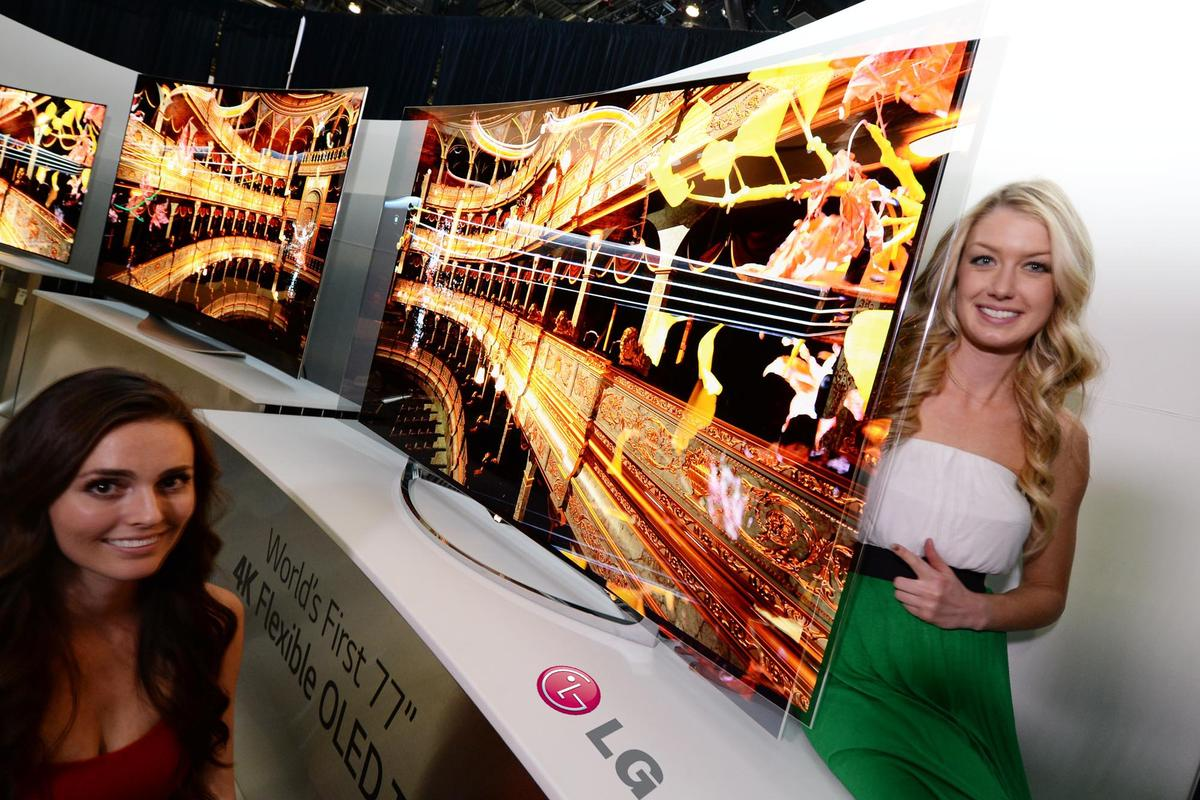 LG's Flexible OLED TV allows users to alter the curvature of the display to suit their preferences