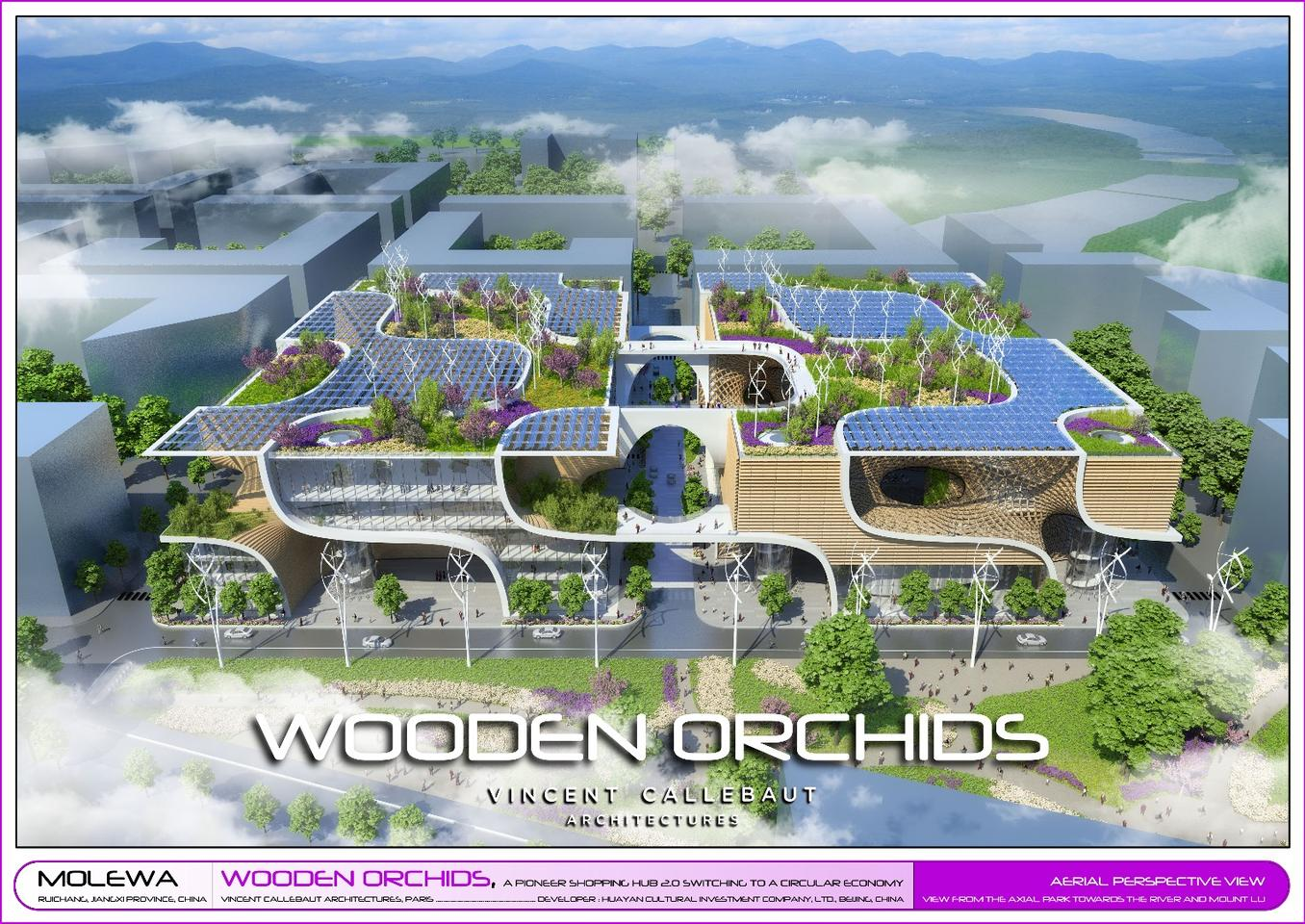 The Wooden Orchids project, by Vincent Callebaut Architectures