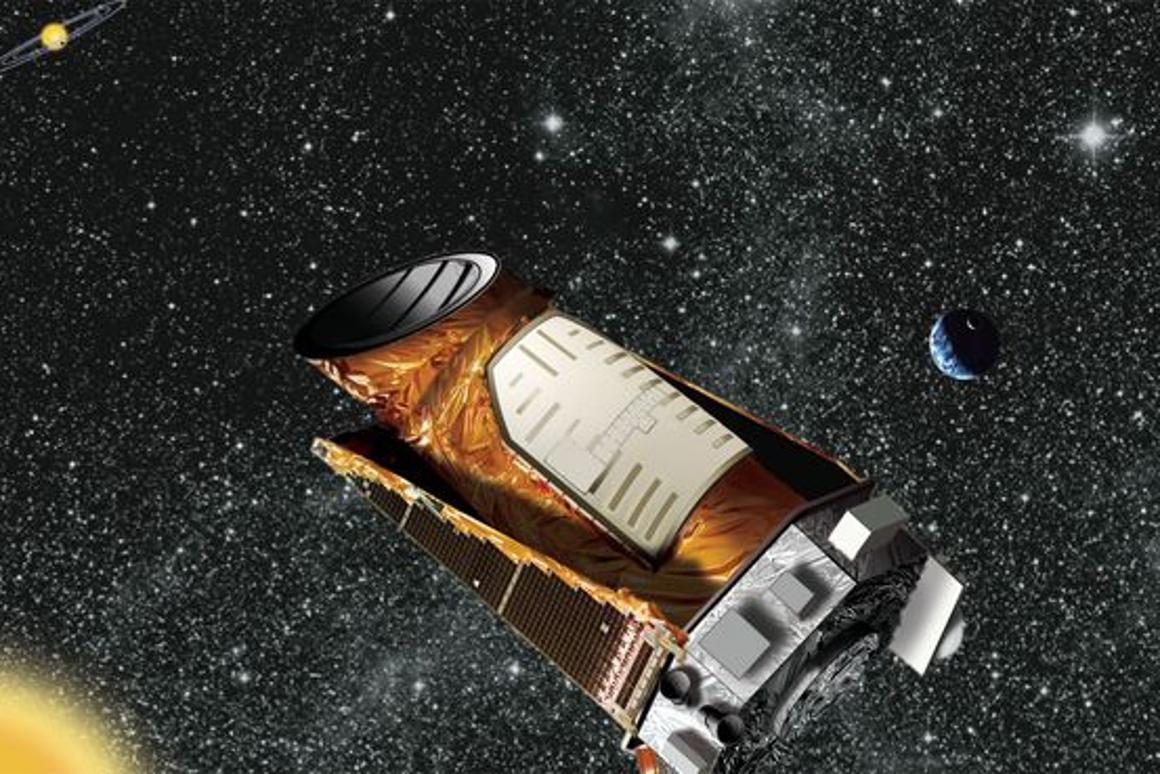 An artist's rendition of the Kepler spacecraft (Image: NASA/JPL-Caltech)