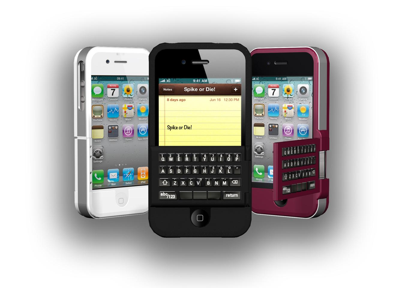The Spike case adds a flip-out physical keyboard to an iPhone 4/4S