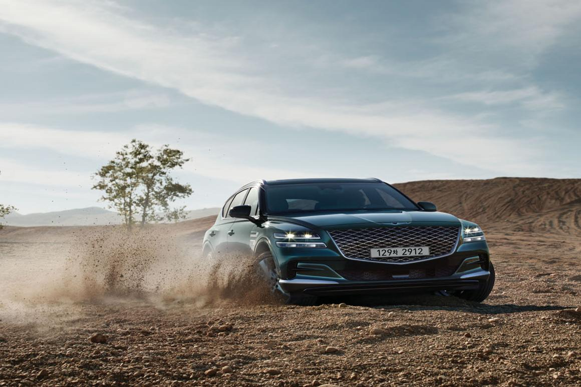 Off-road isn't the focus here; the GV80 is RWD as standard, with AWD as an option
