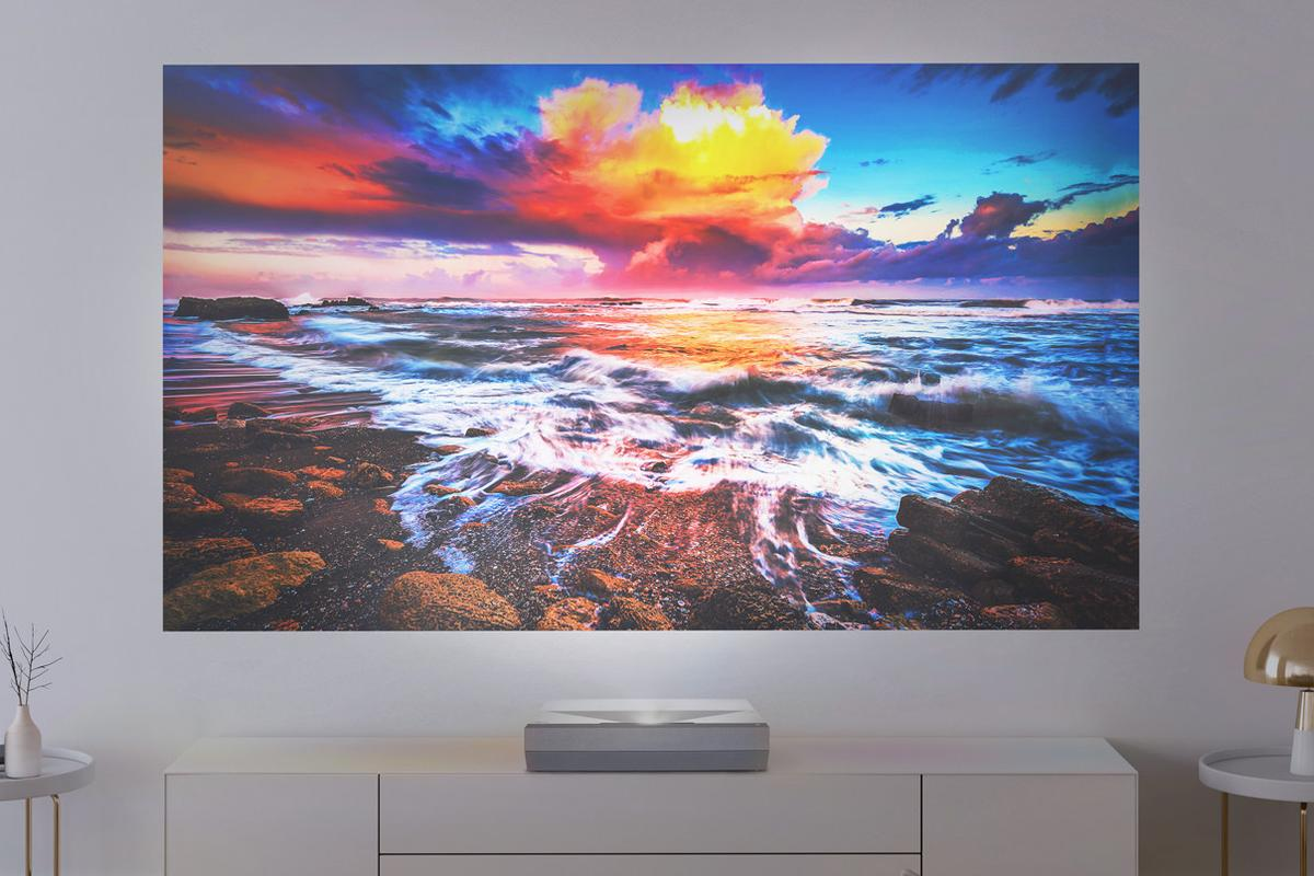 The CinemaX P2 can throw a 120-inch 4K image from just a few inches away