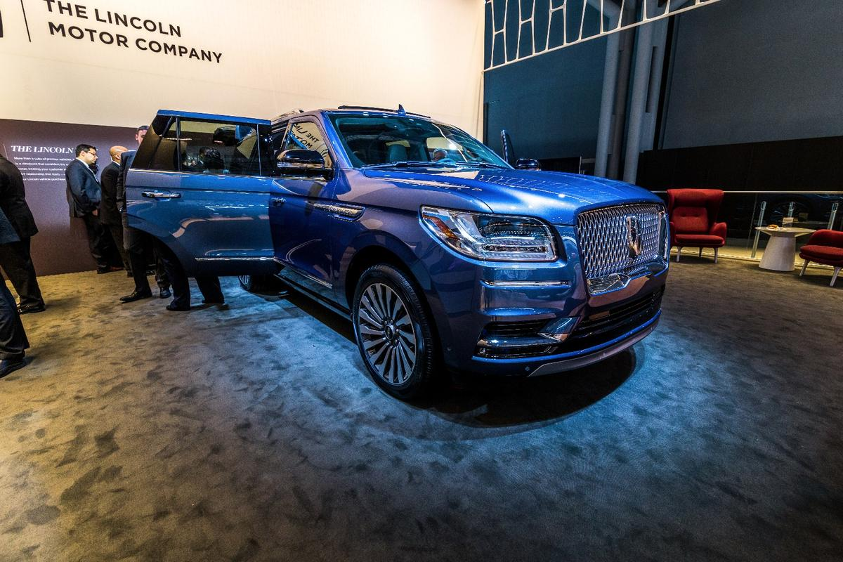 The new Lincoln Navigator on show inNew York