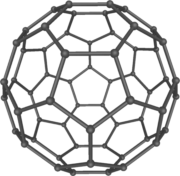 The molecular structure of a C-60 buuckyball (Image: )