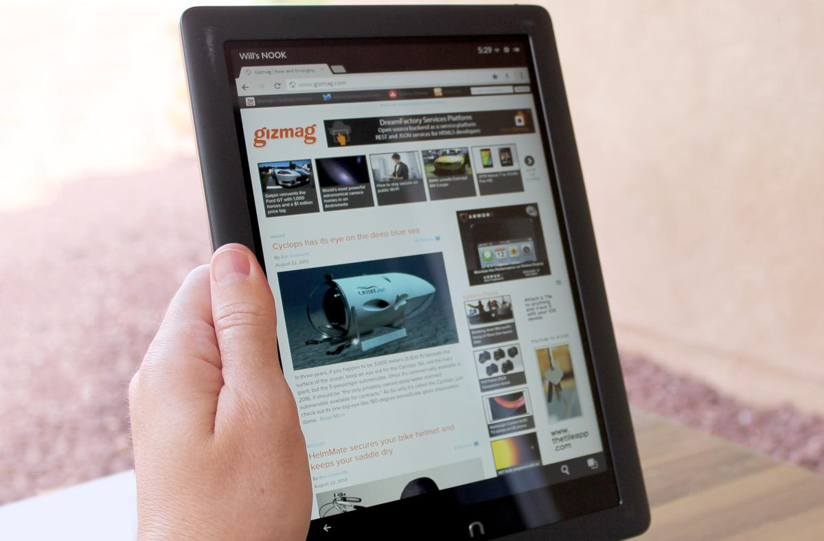 The Nook HD+ is a piece of cake to hold in one hand
