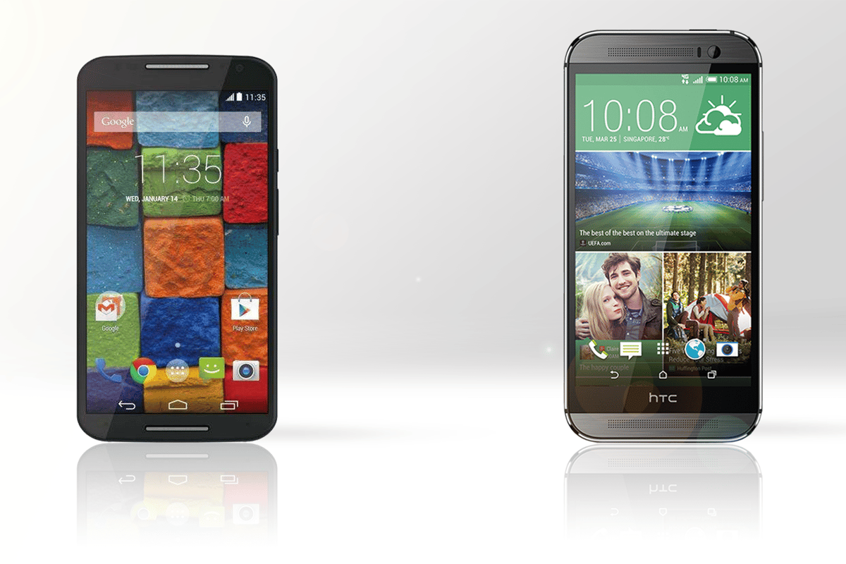Motorola's updated Moto X is looking to rival heavyweight devices like the HTC One (M8)