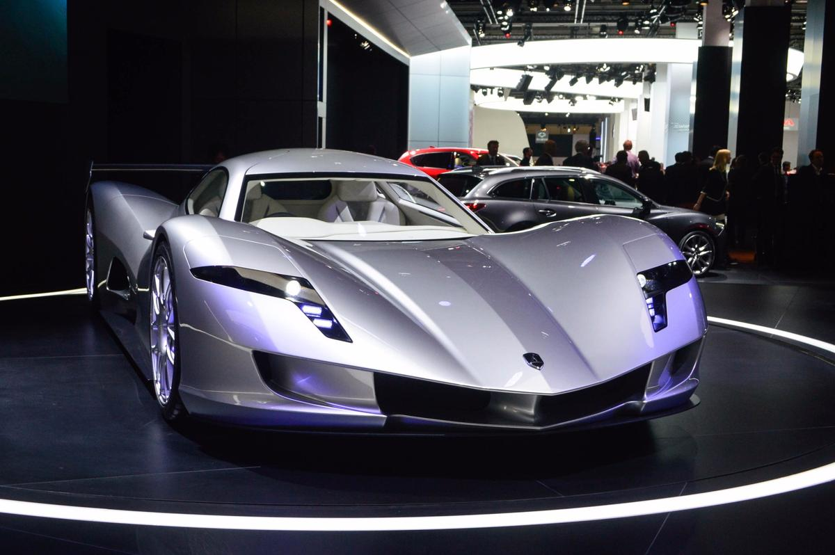 The Aspark Owl is on show at the Frankfurt Motor Show