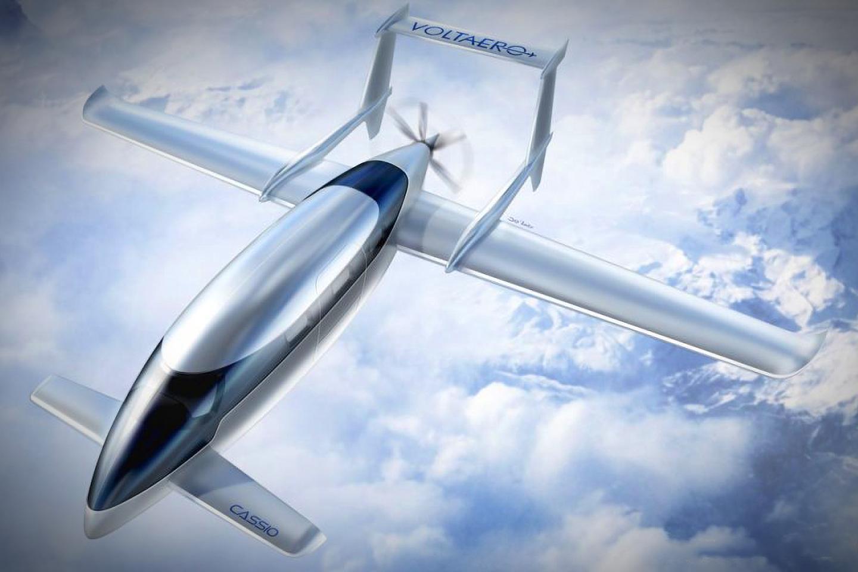 The VoltAero Cassio is designed to offer short-range full-electric flights and longer-range hops in hybrid mode