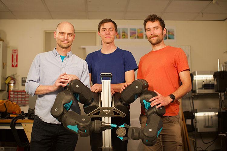 Blue's creators, Pieter Abbeel, David Gealy and Stephen McKinley