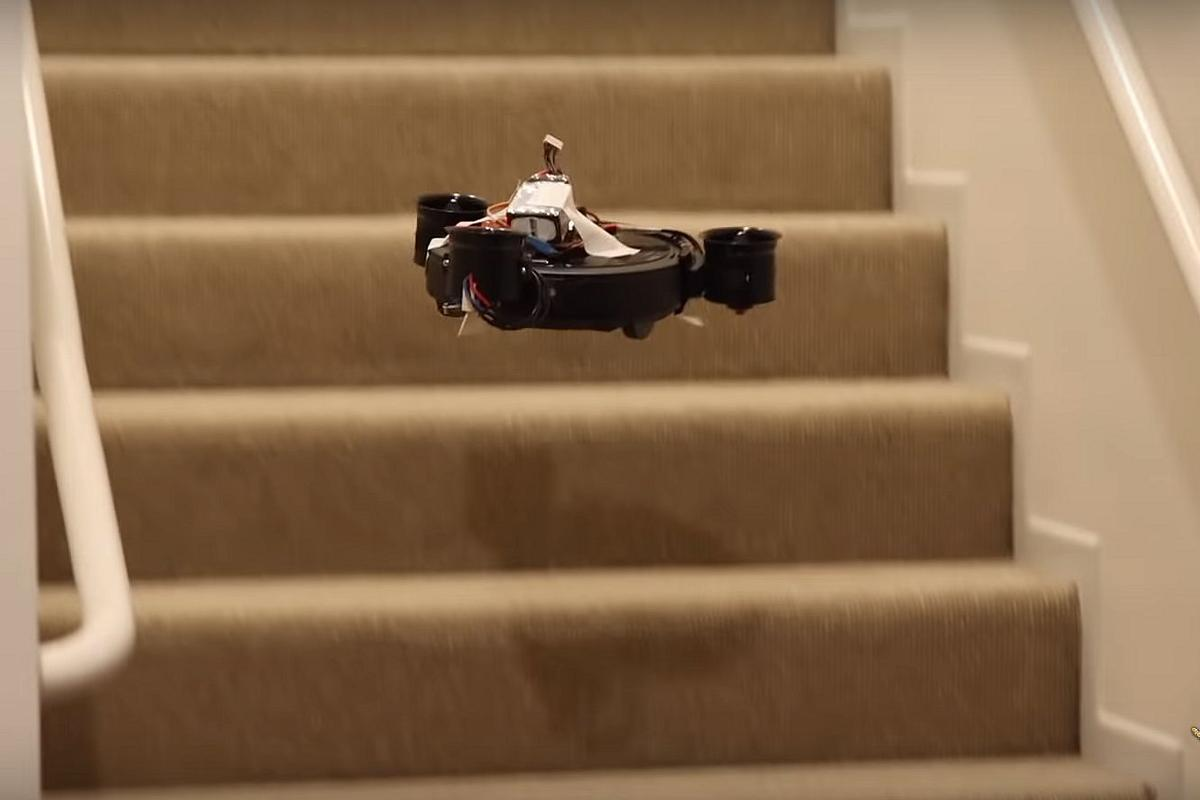 Once it's cleaned downstairs, this robot vac can be flown upstairs to tackle bedroom dirt