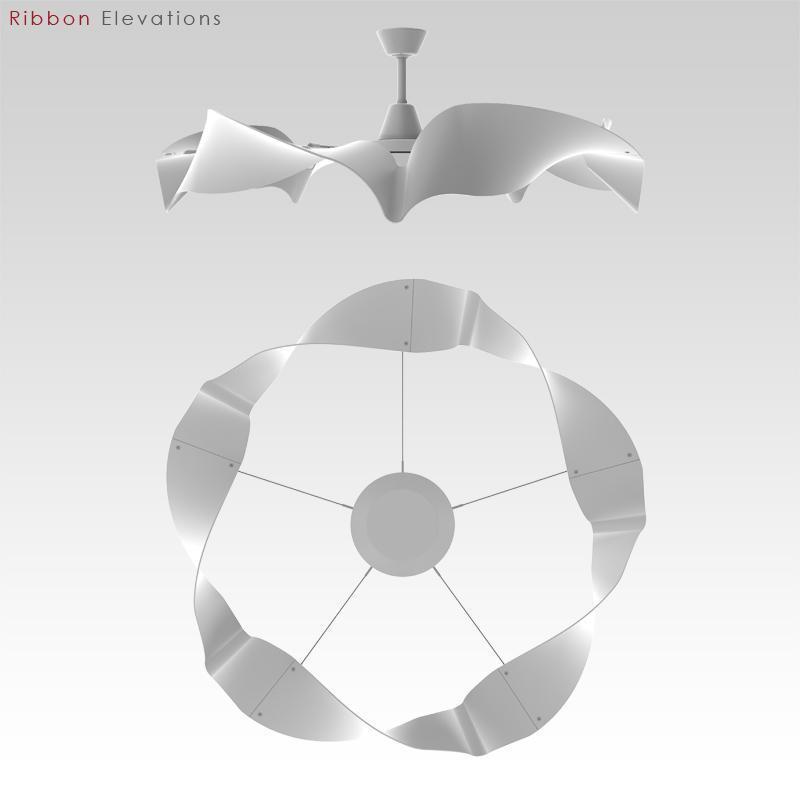 The Ribbon, a loop-bladed prototype ceiling fan