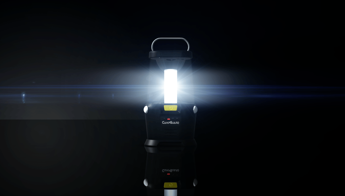The CampGuard is both lantern and alarm system