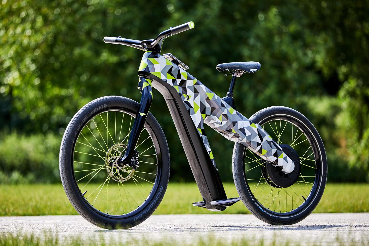 Tilting footrests control both the throttle and brakes on Skoda's Klement concept e-bike