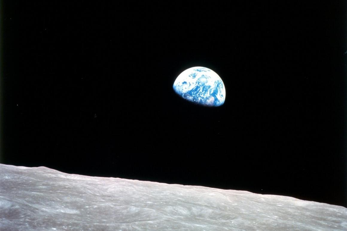 The famous Earthrise photo