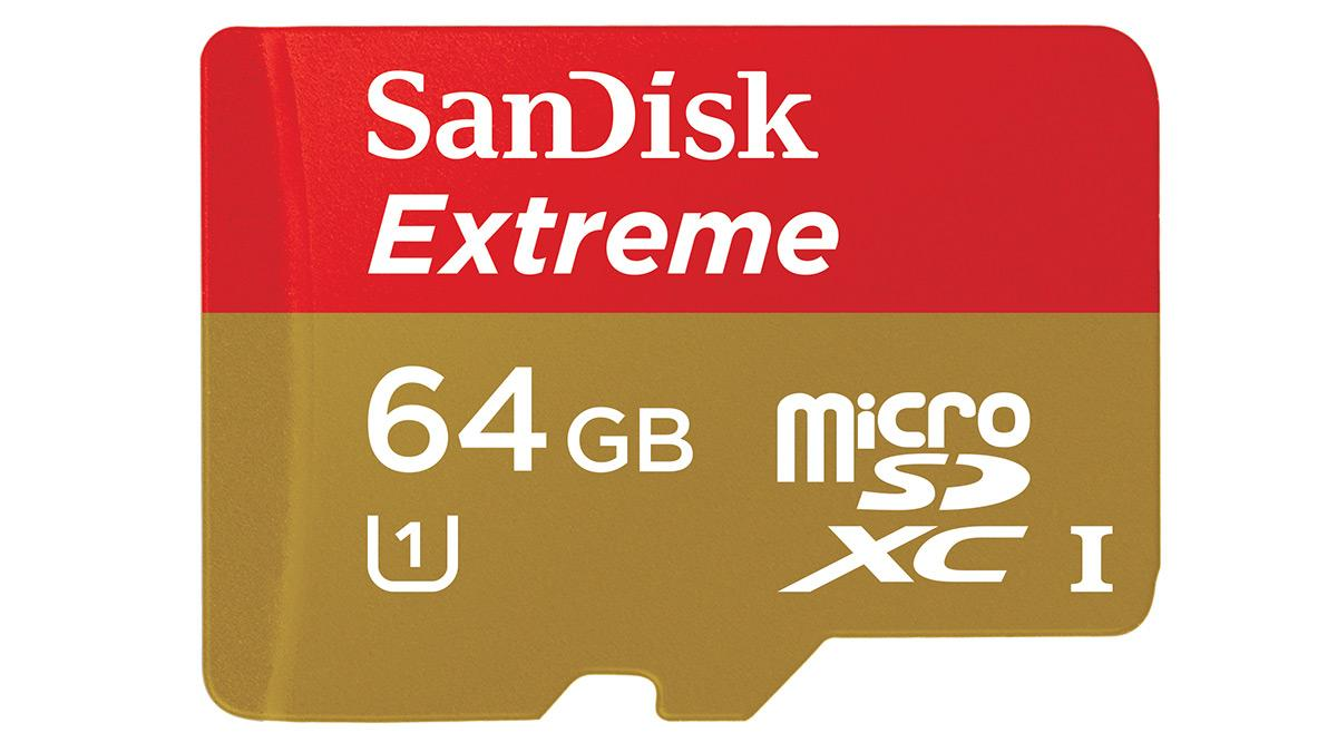 SanDisk's 64 GB Extreme SDXC card promises up to 80 MB/s read and 50 MB/s write speeds