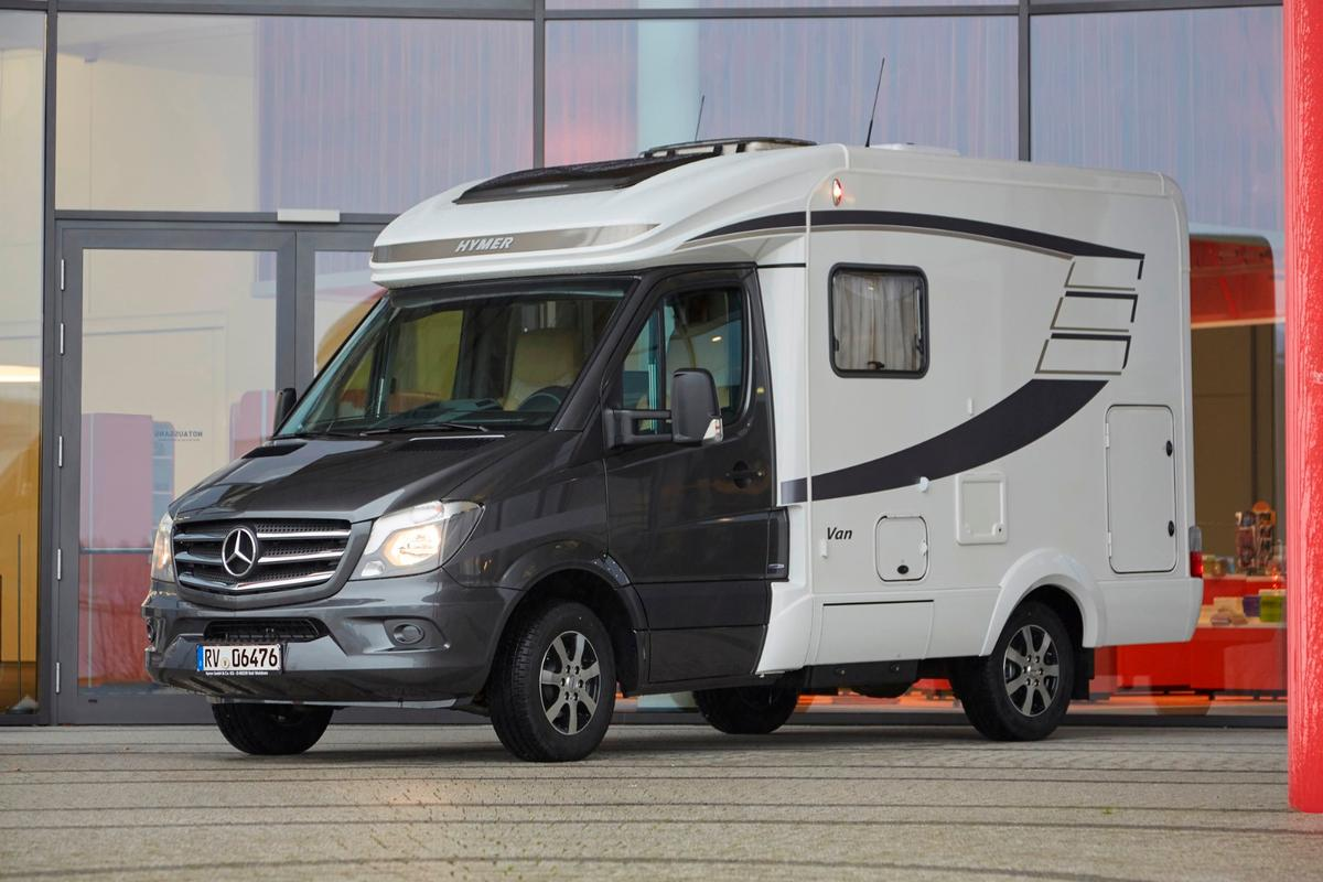 The Hymer Van S finds a compromise between the camper van and Type C motorhome