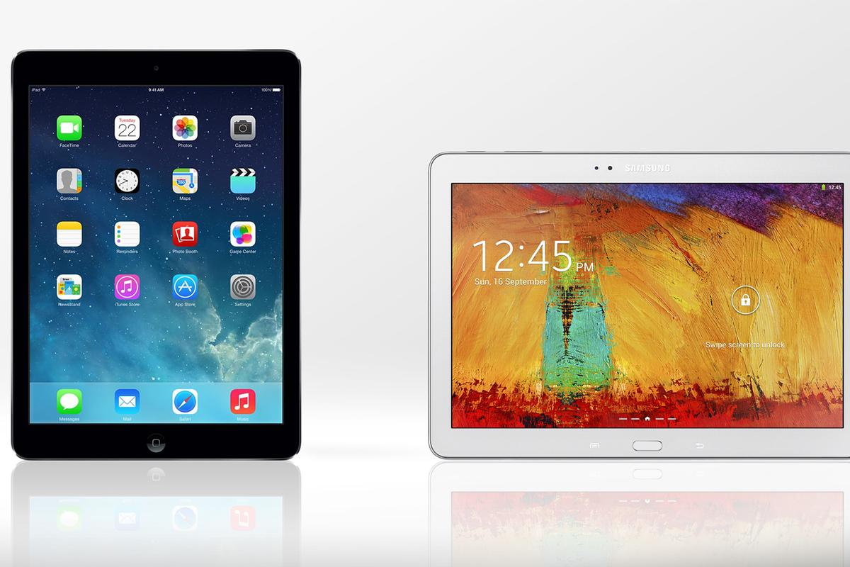Gizmag compares the features and specs of the iPad Air and the 2014 edition of the Galaxy Note 10.1