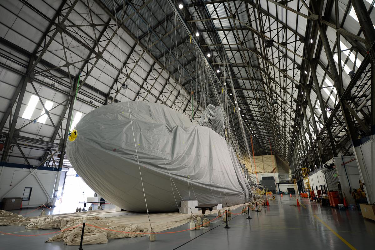 The NT-design takes shape at Goodyear's Wingfoot Lake Hangar in Suffield, Ohio