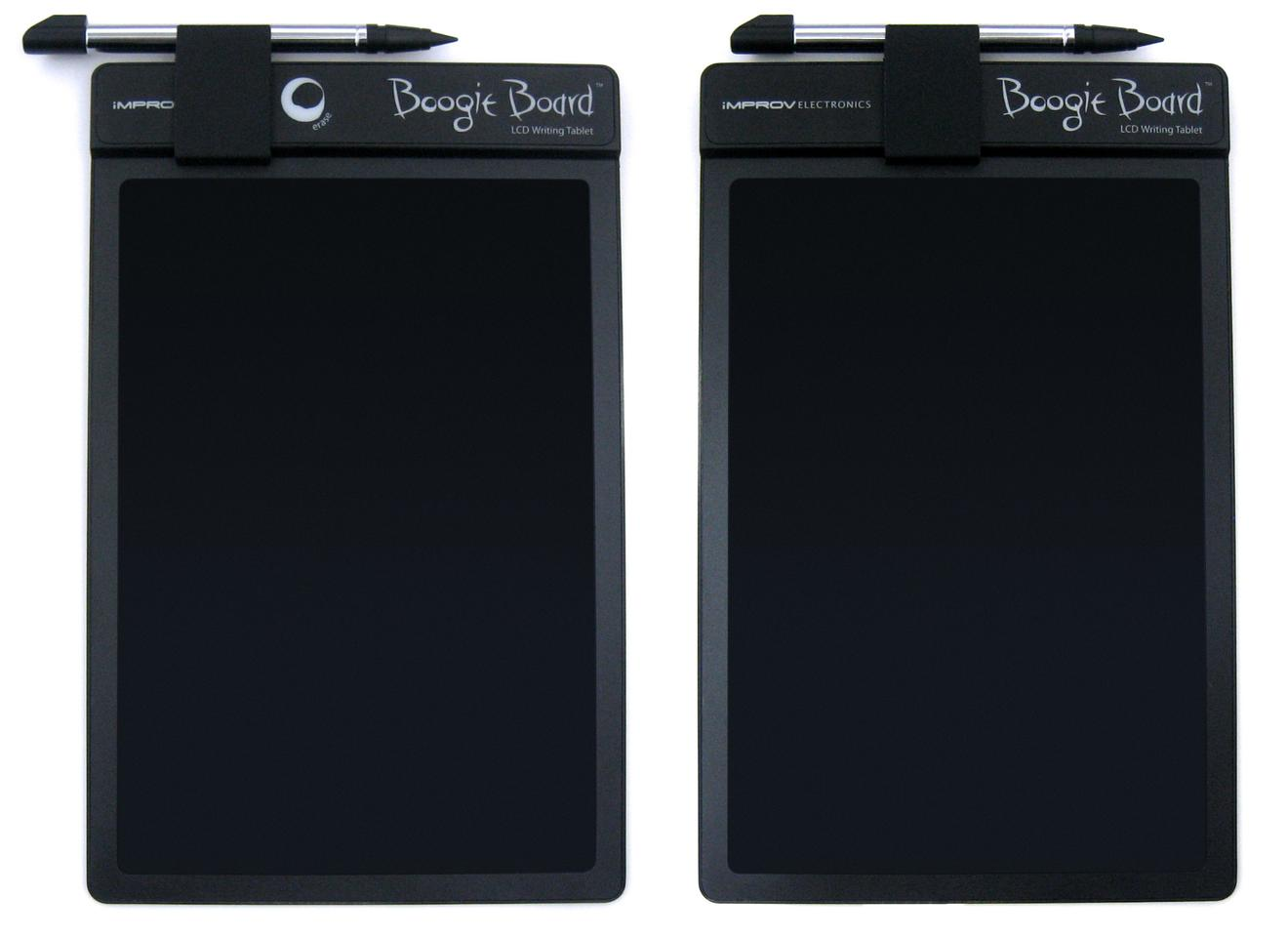 The original Boogie Board with stylus clip