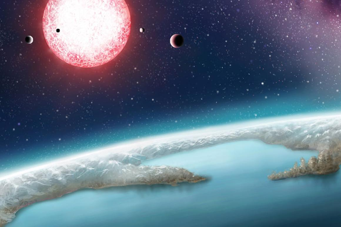 Artist's rendering ofKepler-186f, which is onthe new top 20 list of exoplanetswith thepotential to supportlife