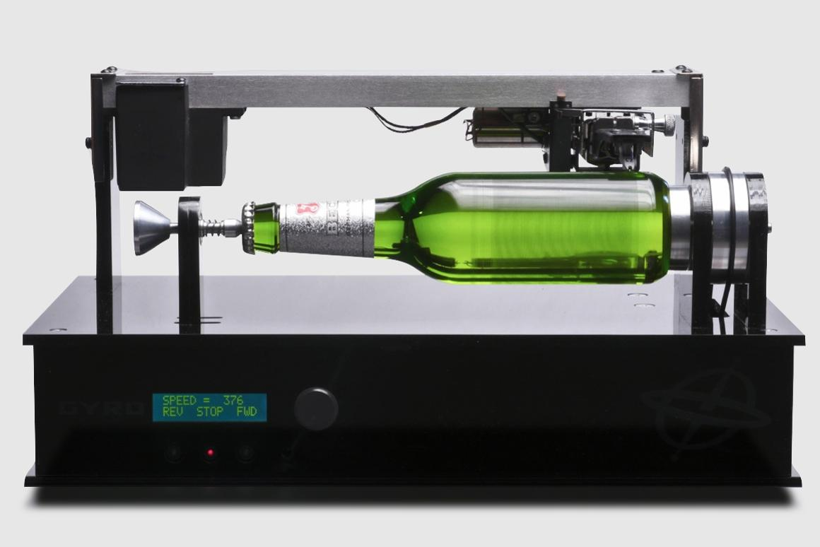 To promote its new record label, Beck's Brewery inscribed a simple beer bottle with music, which can be played like a 19th century phonograph cylinder