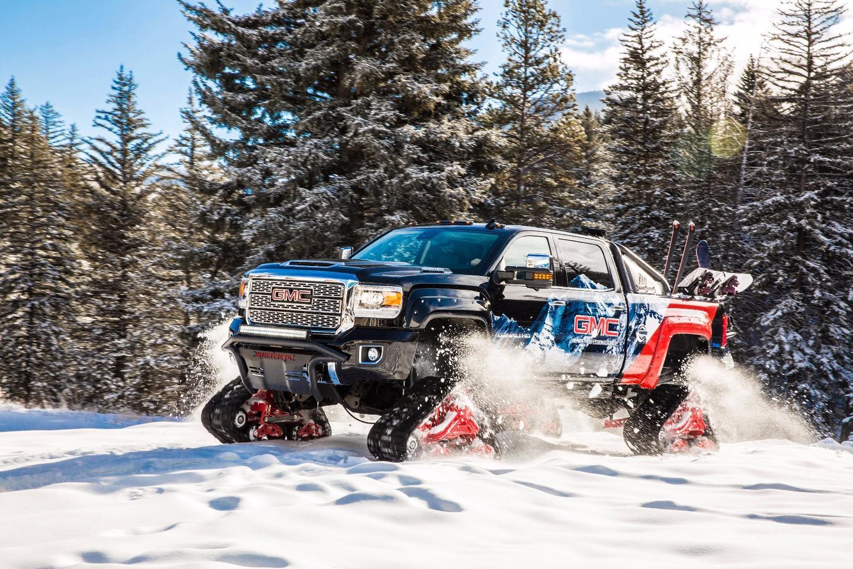 GMC Sierra All Mountain concept: four Mattracks 150 series tracks