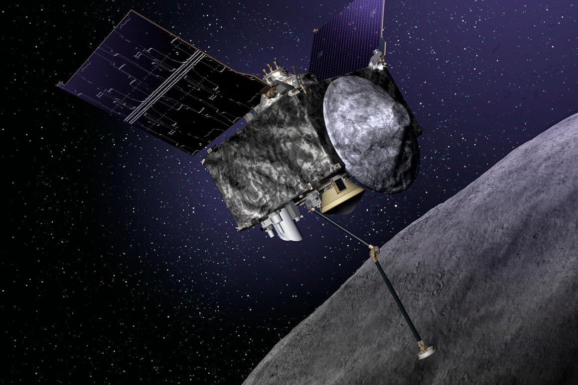 Artist's impression of OSIRIS REx