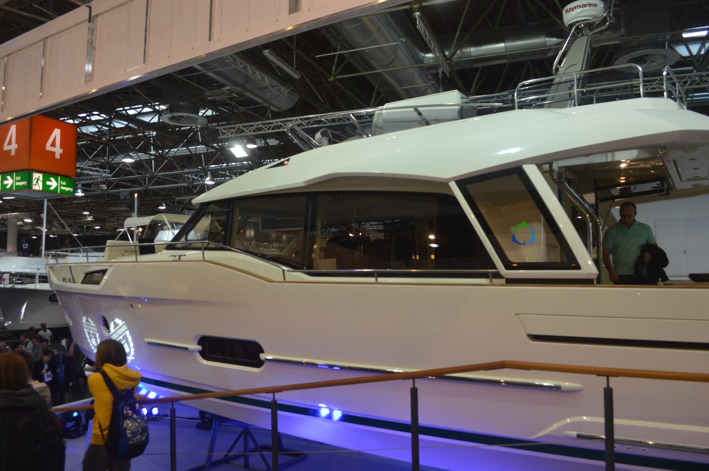 The Greenline 48 made its début at the Dusseldorf Boat Show