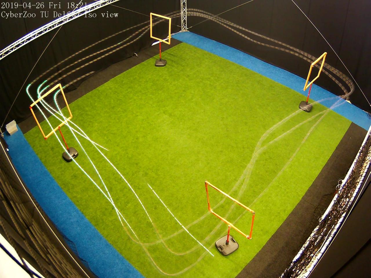 The TU Delft team put the world's smallest autonomous racing drone to work on an indoor course with four gates