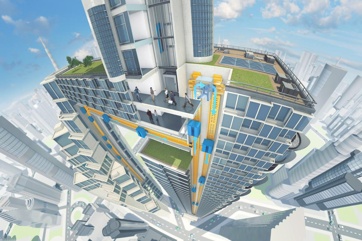 The Multi is still in development, and ThyssenKrupp expects to test the system in 2016 (Image: ThyssenKrupp Elevator AG)