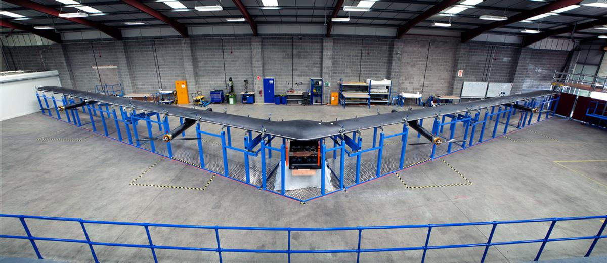 Facebook has finished building the first full-size version of Aquila, its internet-beaming drone