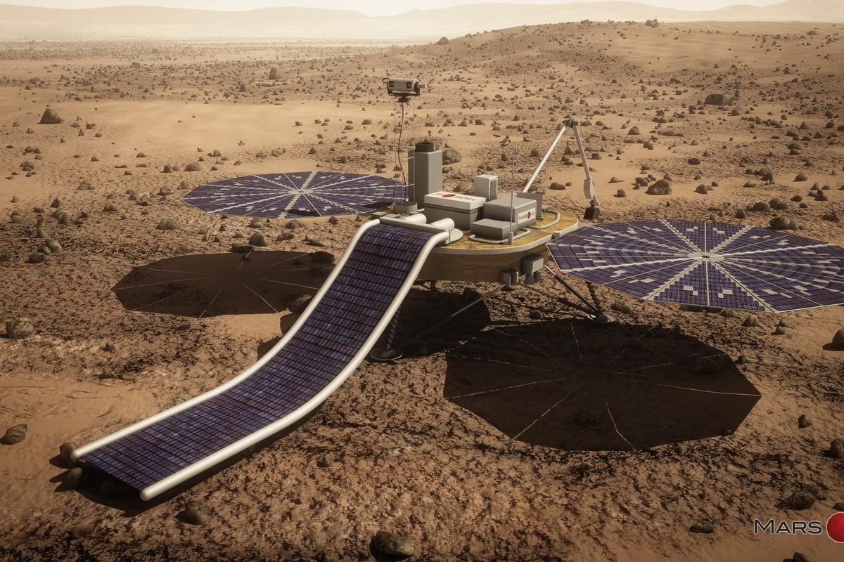 Artist's concept of the Mars One lander (Image: Lockheed Martin)