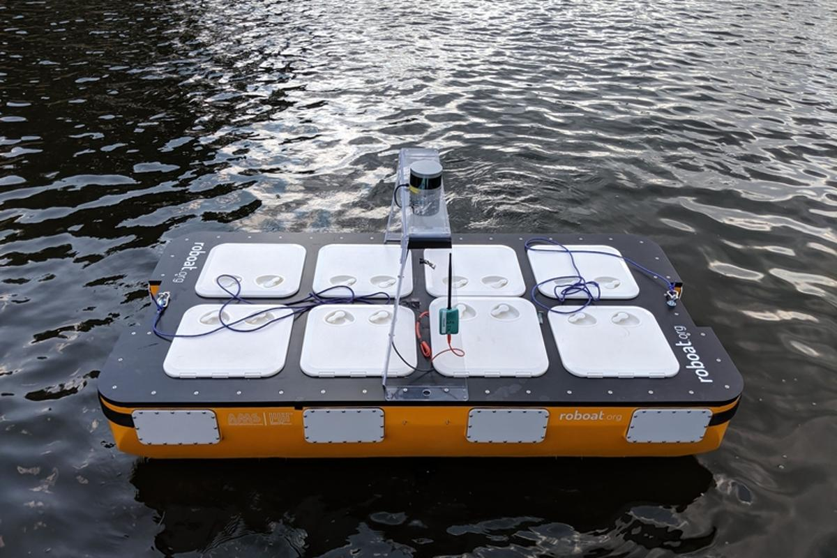 Roboat II is the latest version of MIT's autonomous boat