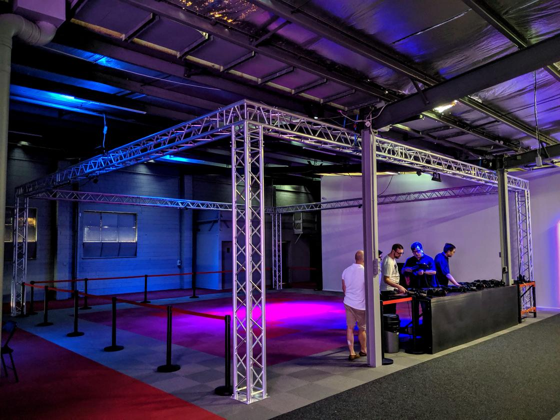 Autron VR is set up in a warehouse in Kensington, Melbourne