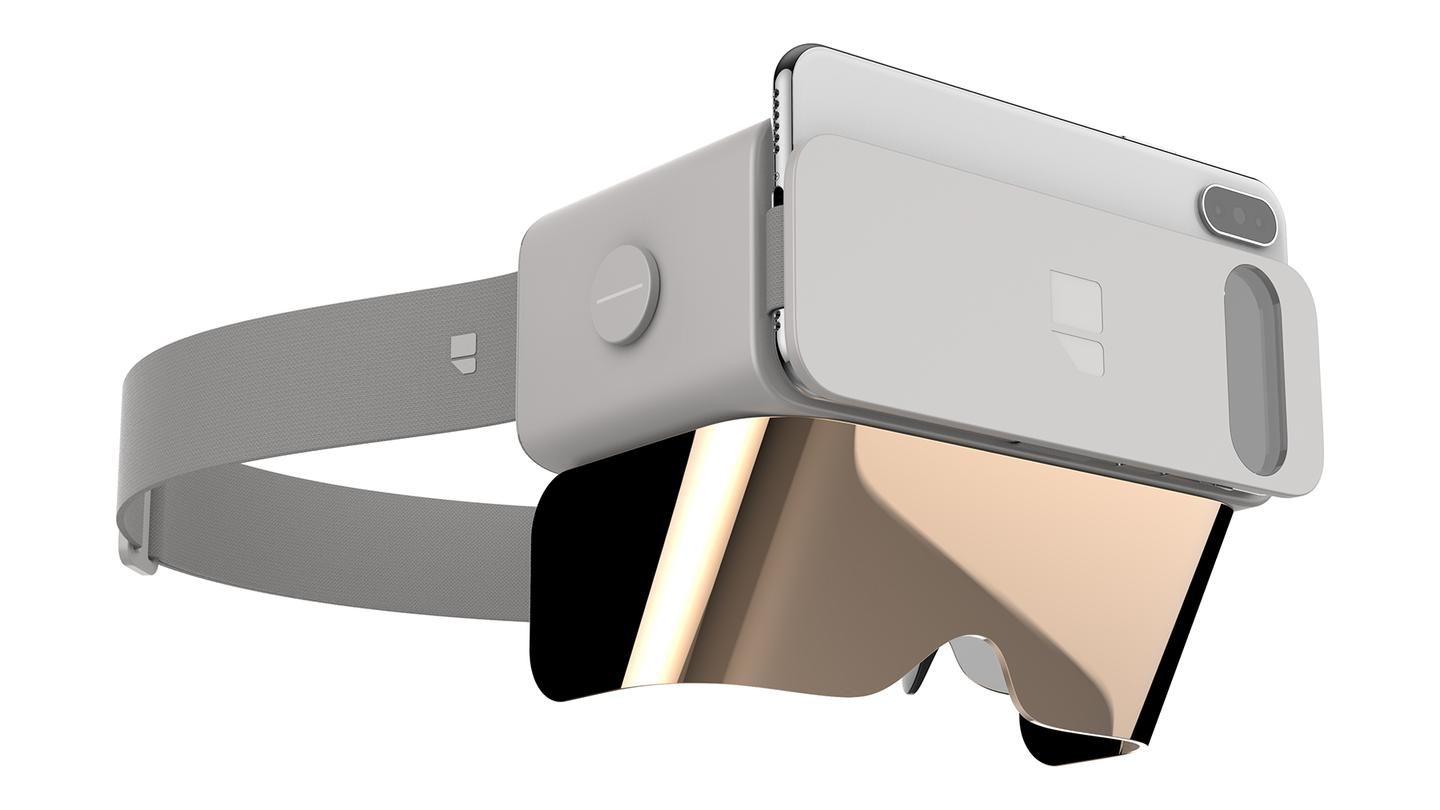 Ghost combines a smartphone slot with an AR visor
