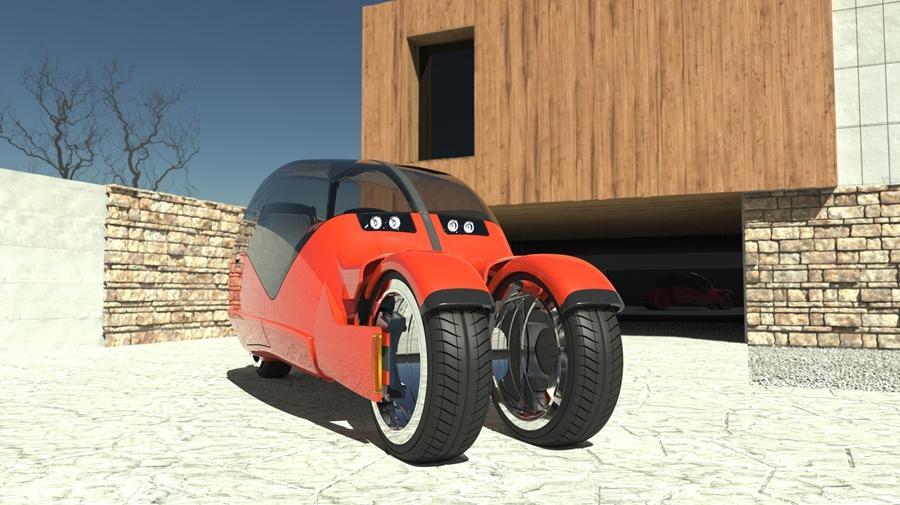 The Lane Splitter concept in car-mode