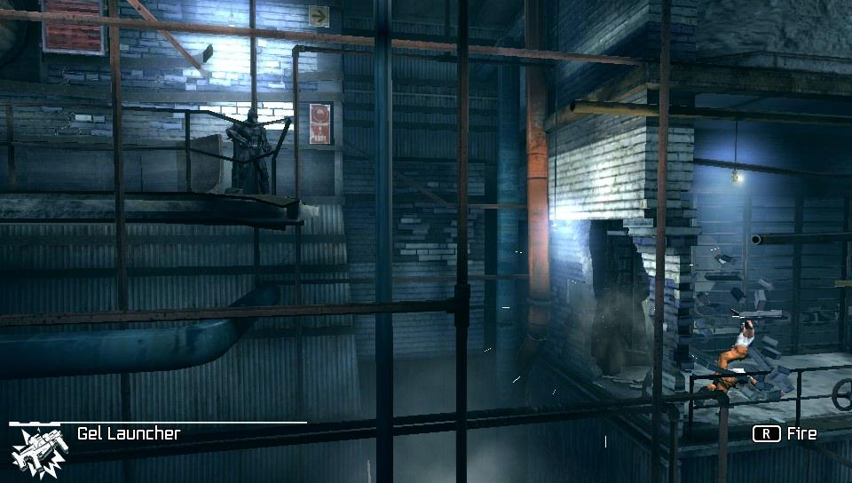 Arkham Origins Blackgate replaces a 3D environment with a Metroid-like 2D side-scrolling world